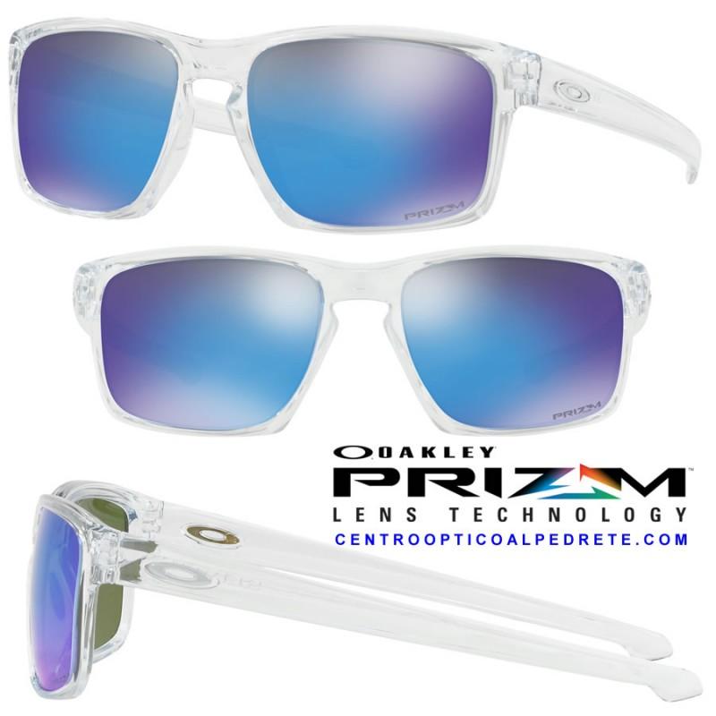 78df16e9aa3 Sunglasses Oakley Sliver Polished Clear   Prizm Sapphire (OO9262-47)