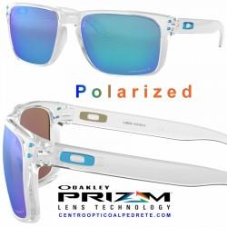 Holbrook XL Polished Clear / Prizm Sapphire Polarized (OO9417-07)