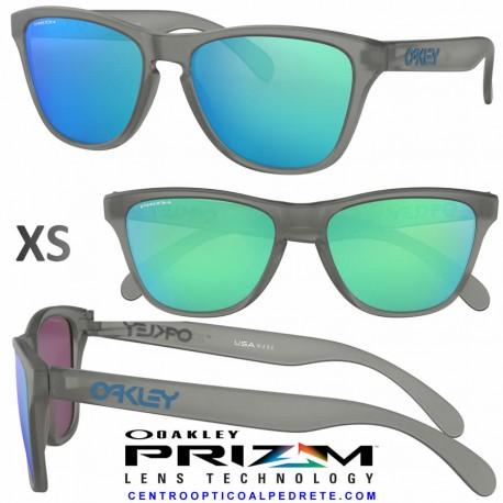 89b81961159 Sunglasses Oakley Frogskin XS Matte Grey Ink   Prizm Sapphire ...
