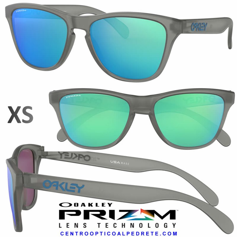 42eb33596c Sunglasses Oakley Frogskin XS Matte Grey Ink / Prizm Sapphire ...