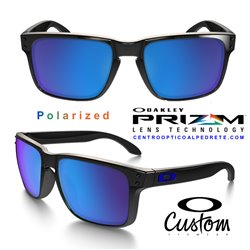 Holbrook XL Custom Polished Black / Prizm Sapphire Iridium Polarized (OO9417-6750)