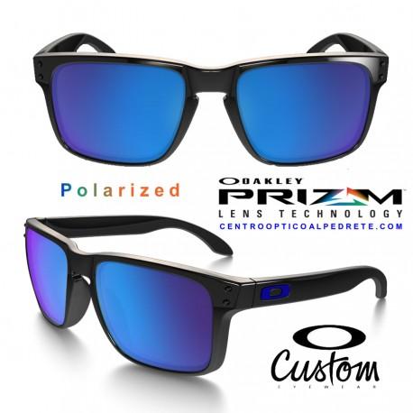 76594bb6898 Holbrook XL Custom Polished Black   Prizm Sapphire Iridium Polarized (OO9417 -6750)
