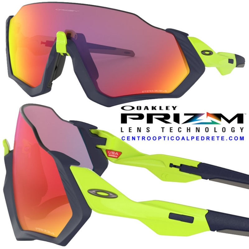 Oakley sport sunglasses Flight Jacket Matte Fog Prizm Road