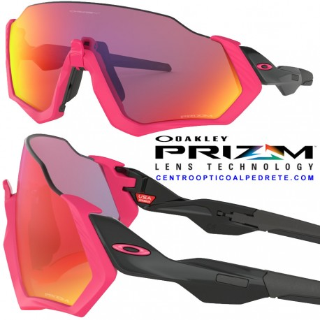 bf047b23b0 Oakley sport sunglasses Flight Jacket Neon Pink   Prizm Road (OO9401-06)
