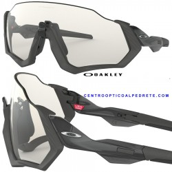 Flight Jacket Steel / Clear Black Iridium Photochromic (OO9401-07)