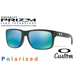 Holbrook Custom Matte Black / Prizm Deep Water Polarized (OO9102-6798)