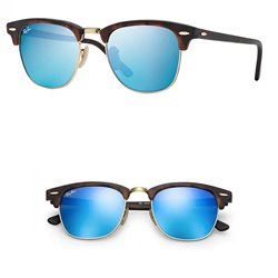 Ray-Ban ClubMaster / Grey Mirror Blue (RB3016-114517)