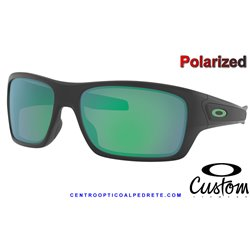 Turbine MotoGp Custom Matte Black / Jade Iridium Polarized (OO9263-15C)
