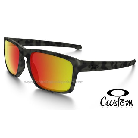 55d4665fee Sunglasses Oakley Sliver Custom Matte Green Camo   Ruby Iridium ...