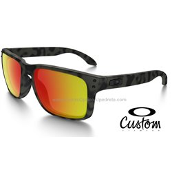 Holbrook Matte Black / Ruby Iridium Polarized (OO9102-6839)