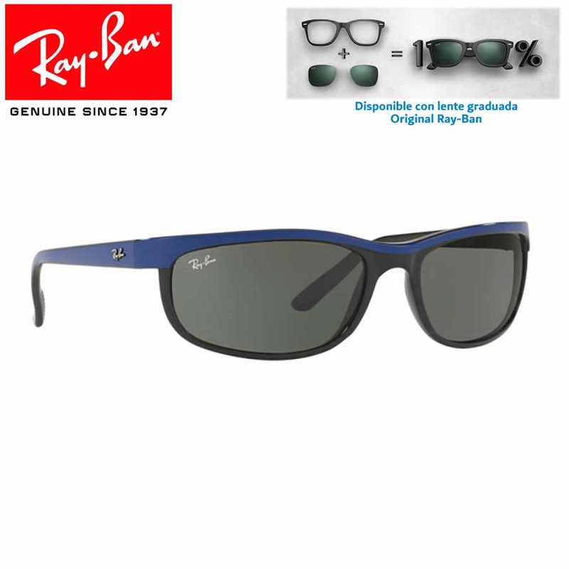 032081554a Sunglasses Ray-Ban Predator 2 Top Blue on Black / Verde (RB2027/6301)