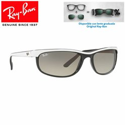 Ray-Ban Predator 2 Top White on Black / Clear grey Gradient (RB2027-629932)