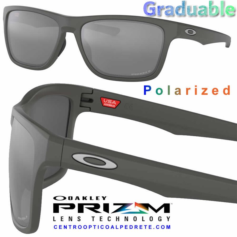 12a207370cc Oakley sunglasses Holston Matte Dark Grey   Prizm Black Polarized ...