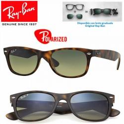 Ray-Ban New WayFarer Matte Havana / Blue-Green Polarized (RB2132/894-76)