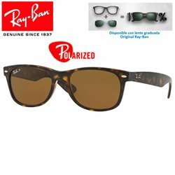 Ray-Ban New WayFarer Tortoise / Crystal Brown Polarized (RB2132/902-57)