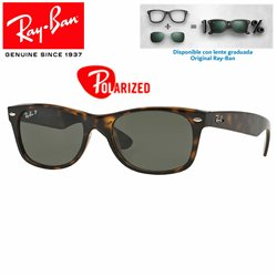 Ray-Ban New WayFarer Tortoise / Crystal Green Polarized (RB2132/902-58)
