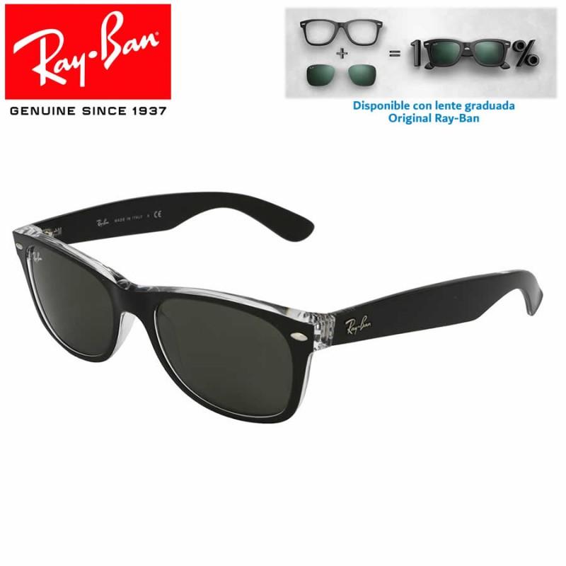 c92d8108650f5 Ray-Ban New WayFarer Top Black On Transparent   Blue Grad. Grey Polarized (