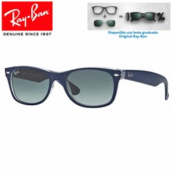 Ray-Ban New WayFarer Top Matte Blue On Transparent / Grey Gradient (RB2132/605371)