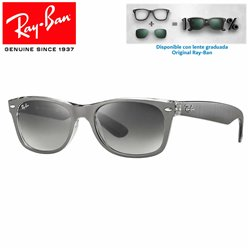 Ray-Ban New WayFarer Top Brushed Gunmetal On Transparent / Grey Gradient Dark Grey (RB2132/614371)