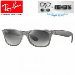 Ray-Ban New WayFarer Top Brushed Gunmetal On Transparent / Grey Gradient Dark Grey (RB2132/614371)