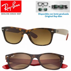 Ray-Ban New WayFarer Matte Havana / Brown Gradient Dark Brown (RB2132/618185)