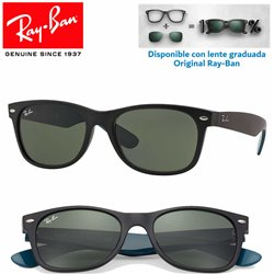 Ray-Ban New WayFarer Matte Black / Green (RB2132/6182)