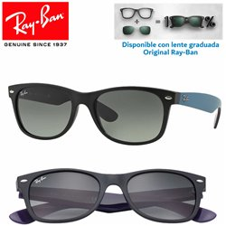 Ray-Ban New WayFarer Matte Black / Grey Gradient Dark Grey (RB2132/618371)