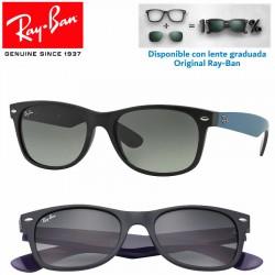 Ray-Ban New WayFarer Matte Black / Grey Gradient Dark Grey (RB2132/618371)
