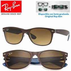 Ray-Ban New WayFarer Matte Chocolate on Blue / Light Brown Grad Dark Brown (RB2132/618985)