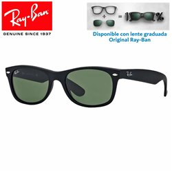 Ray-Ban New WayFarer Black Rubber/ Crystal Green (RB2132/622)