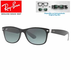 Ray-Ban Black Matte Black on Opal Ice/ Grey Gradient Dark Grey (RB2132/630971)