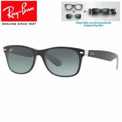 Ray-Ban Black Matte Black on Opal Ice/ Grey Gradient Dark Grey (RB2132/630971)