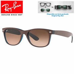 Ray-Ban Black Matte Chocolat on Opal Yellow/ Pink Gradient Brown (RB2132/6310A5)