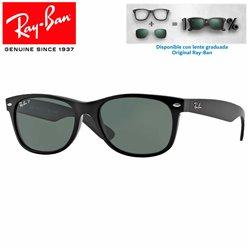 Ray-Ban New WayFarer Black / Crystal Green (RB2132/901)