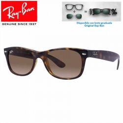 Ray-Ban New WayFarer Black / Clear Gradient Green (RB2132/901-3A)