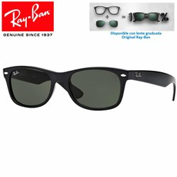 Ray-Ban New WayFarer Black / Crystal Green (RB2132/901L)
