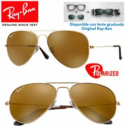 Ray-Ban Aviator Large Gold / Crystal Brown Polarized (RB3025-001/57)