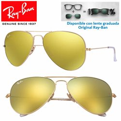 Ray-Ban Aviator Large Matte Gold / Brown Mirror Gold (RB3025-112/93)