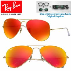 Ray-Ban Aviator Large Matte Gold / Orange Mirror (RB3025 -112/69)