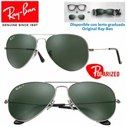 Ray-Ban Aviator Large GunMetal / Crystal Green Polarized (RB3025/004-58)