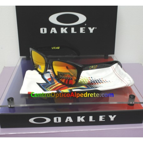Frogskins Valentino Rossi Polished Black / Prizm Ruby (OO9013-E6)