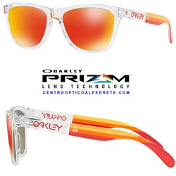 Frogskins Grips Polished Clear / Prizm Ruby (OO9013-E1)
