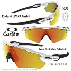 Radar EV XS Custom Polished White / Fire Iridium Polarized (OJ9001-6992)