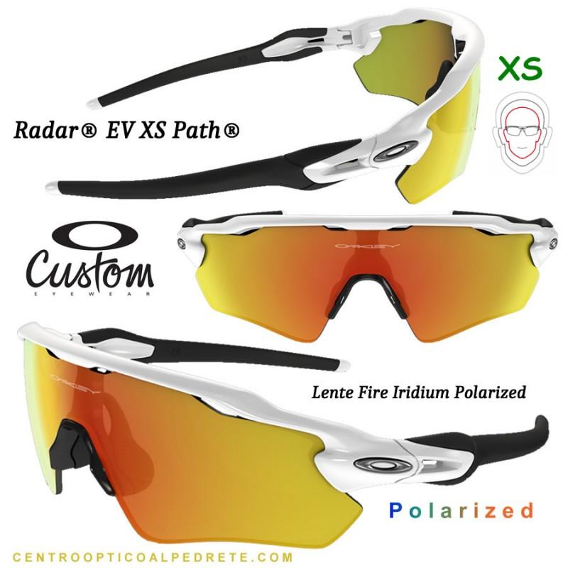 f11838c100b Sunglasses Oakley Radar EV XS Custom Polished White   Fire Iridium Polarized  (OJ9001-6992)