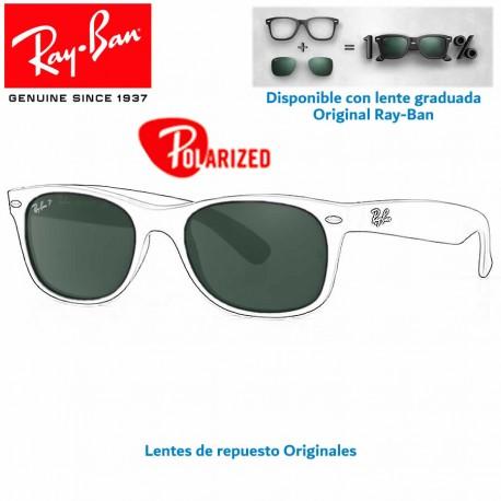 Lentes de repuesto Ray-Ban WayFarerLente Crystal Green Polarized (RB2132-901/58)