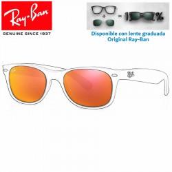Lentes de repuesto Ray-Ban New WayFarer Lente Brown Mirror Red (RB2132-622/69)