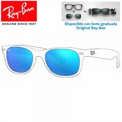 Lentes de repuesto Ray-Ban New WayFarer Lente Grey Mirror Blue (RB2132-622/17)