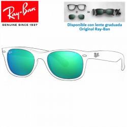 Lentes de repuesto Ray-Ban New WayFarer Lente Grey Mirror Green (RB2132-622/19)