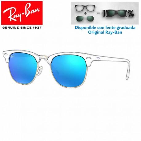 Lentes de repuesto Ray-Ban New ClubMaster Lente Grey Mirror Blue (RB3016-114517)