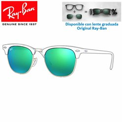 Lentes de repuesto Ray-Ban New ClubMaster Lente Grey Mirror Green (RB3016-114519)